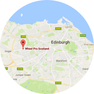 Wheel Pro Scotland Alloy Wheel Repair Edinburgh Wrokshop Location Map
